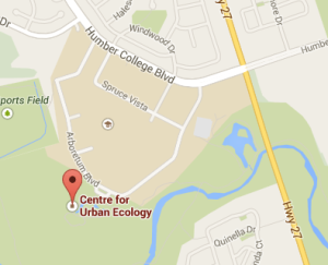 Centre for Urban Ecology 205 Arboretum Blvd Toronto, ON M9W 6V3