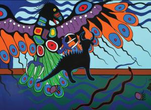 Thunderbird and Mishipishu, Philip Cote, 2014
